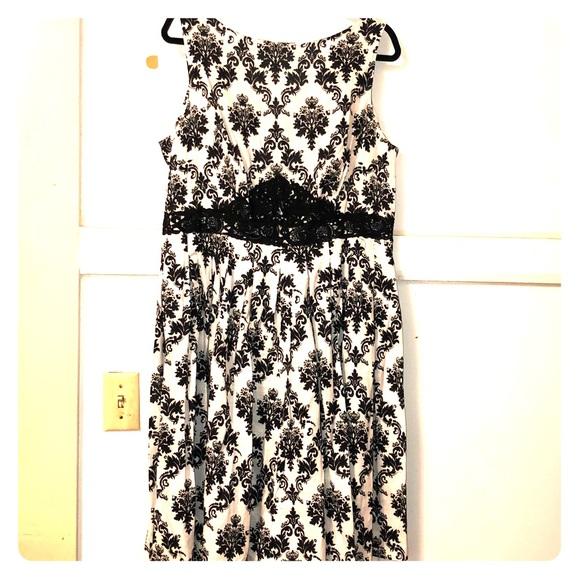 Unique Vintage Dresses & Skirts - Unique Vintage Damask Summer Dress